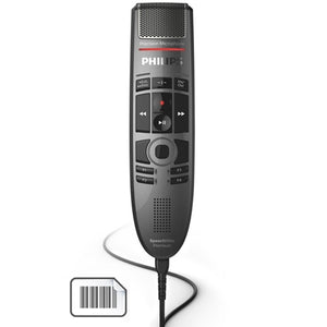 Philips SMP3800 SpeechMike Premium push button, Barcode - Dictation Solutions Australia