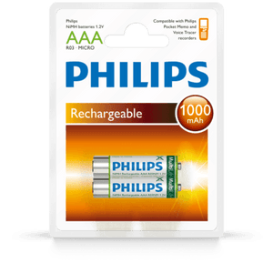Philips LFH9154 Rechargeable Batteries AAA (DPM 9600)