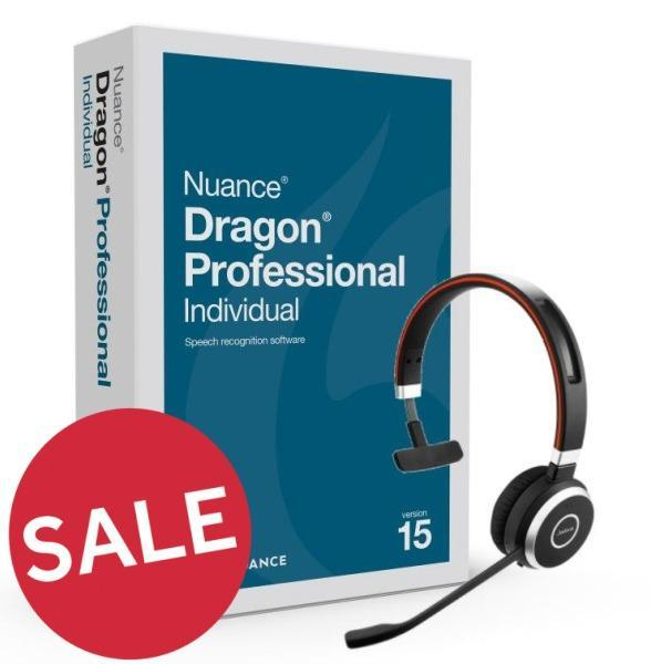 Dragon Professional Individual 15 with Jabra Wireless Headset (PC)