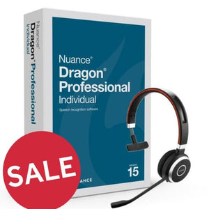 Dragon Pro 15 with Jabra Wireless Mic & Training - Dictation Solutions Australia