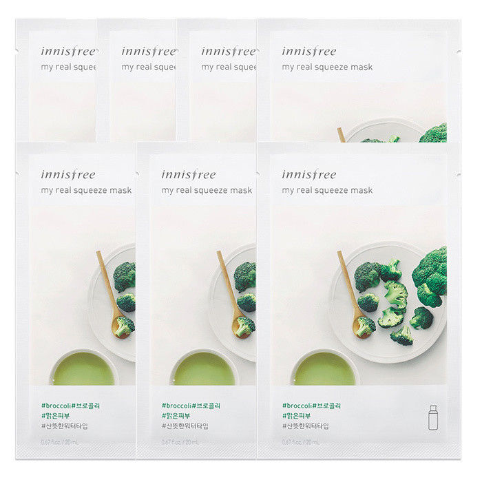 INNISFREE-My-Real-Squeeze-Mask-Sheet-20mL-7-PCS-SET-18-kinds-Made-in-Korea
