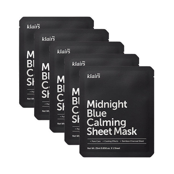 KLAIRS Midnight Blue Calming Sheet Mask 25mL * 5 PCS