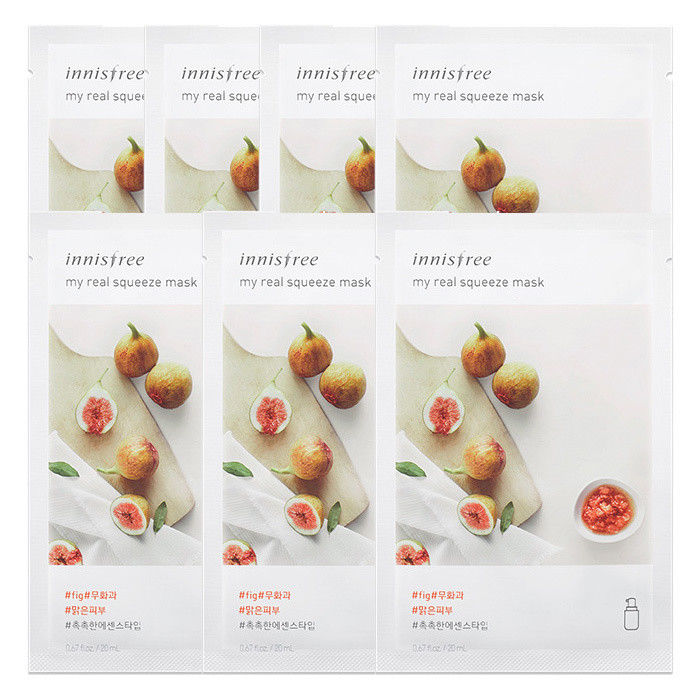 INNISFREE-My-Real-Squeeze-Mask-Sheet-20mL-7-PCS-SET-18-kinds-Made-in-Korea thumbnail 20
