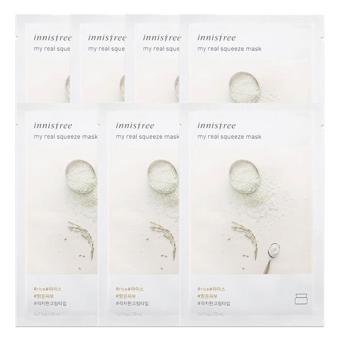 INNISFREE-My-Real-Squeeze-Mask-Sheet-20mL-7-PCS-SET-18-kinds-Made-in-Korea thumbnail 28