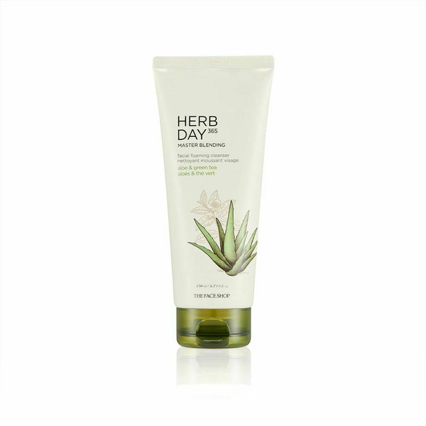 THE FACE SHOP Herb Day 365 Master Blending Facial Foaming Cleanser 170mL