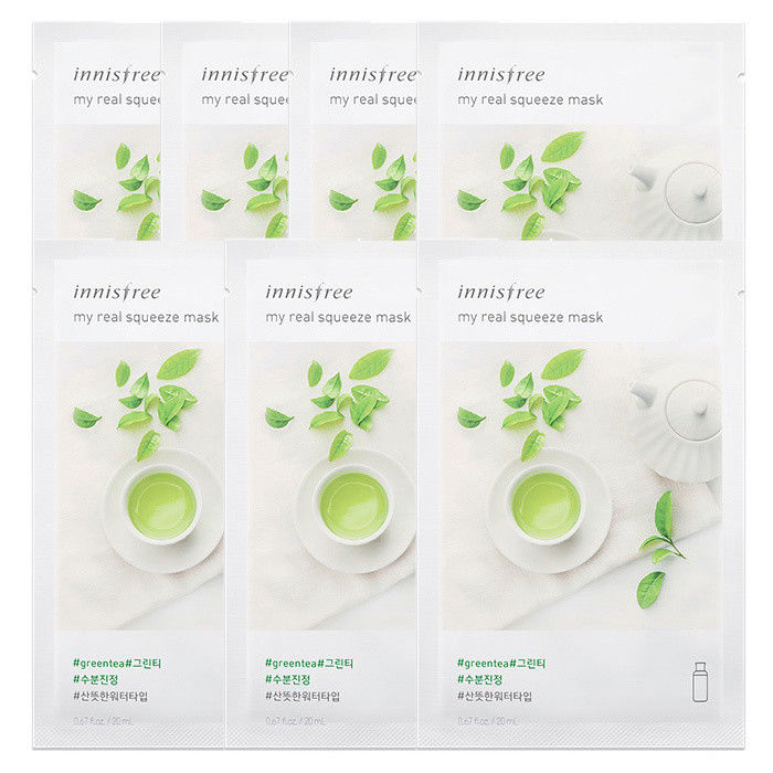 INNISFREE-My-Real-Squeeze-Mask-Sheet-20mL-7-PCS-SET-18-kinds-Made-in-Korea thumbnail 22