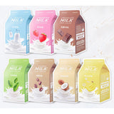 A'PIEU Milk One Pack Sheet Mask 21g x 3 Sheets (7 Types)