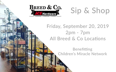 3rd Annual Sip & Shop for Children's Miracle Network