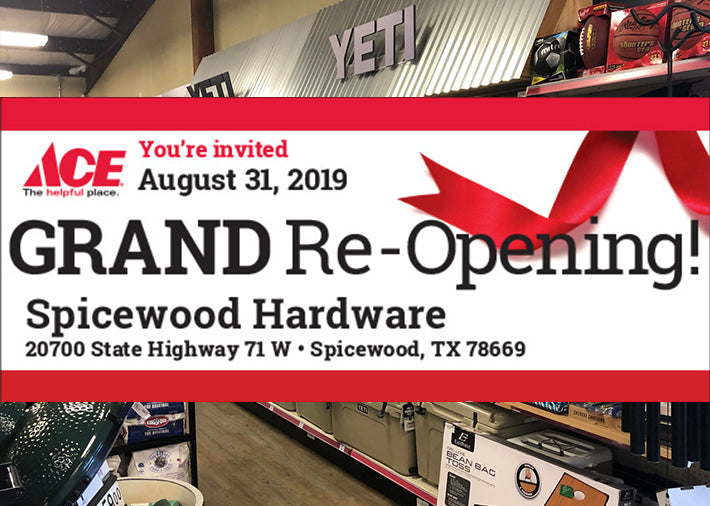 Spicewood Hardware Gets a New Look! Grand Re-Opening – August 31