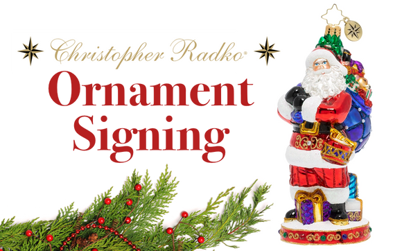 2019 Christopher Radko St. Nick's Delivery ornament signing