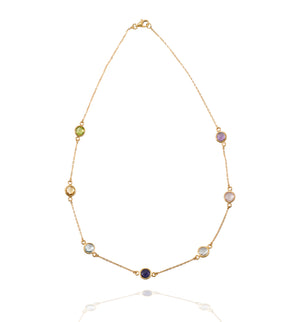 AVOJ AMORE GOLD MULTI STONE NECKLACE