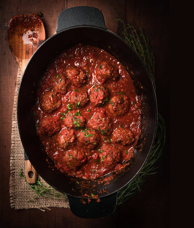 Gjelina-inspired Meatballs Braised in Pomodoro Sauce
