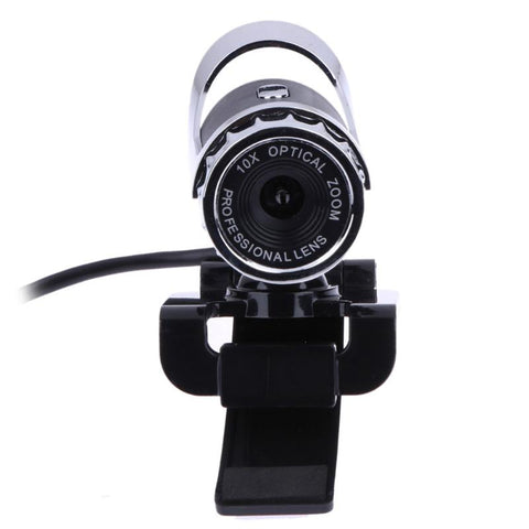 Computer Office Webcam USB 2.0 12 Megapixel High Definition Camera Web Cam 360 Degree MIC Clip-on For Skype notebook laptops
