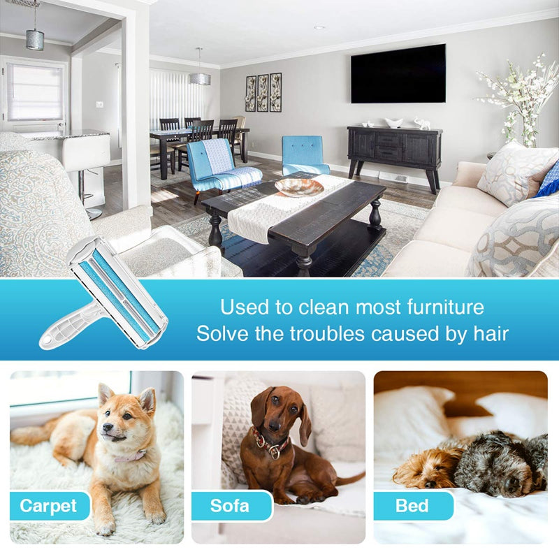 Pet Hair Remover Dog Cat Hair Lint Remover Reusable Cleaner Remove Hair From Furniture, Carpets, Bedding, Clothing Roller Self Cleaning Fur Removal Roller