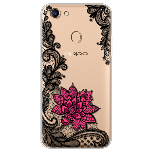66b62ab971 ... Flowers For OPPO F5 Case luxury Silicone Clear Back Phone Cases  Beautiful For OPPO F5 Case ...