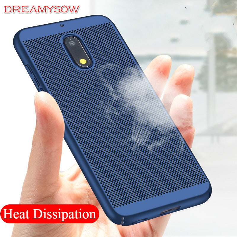For Nokia 3 5 6 8 2 7 9 case Heat Dissipation Cooling Housing Honeycomb Back Cover for NOKIA6 NOKIA8 Sirocco Accessories Cover