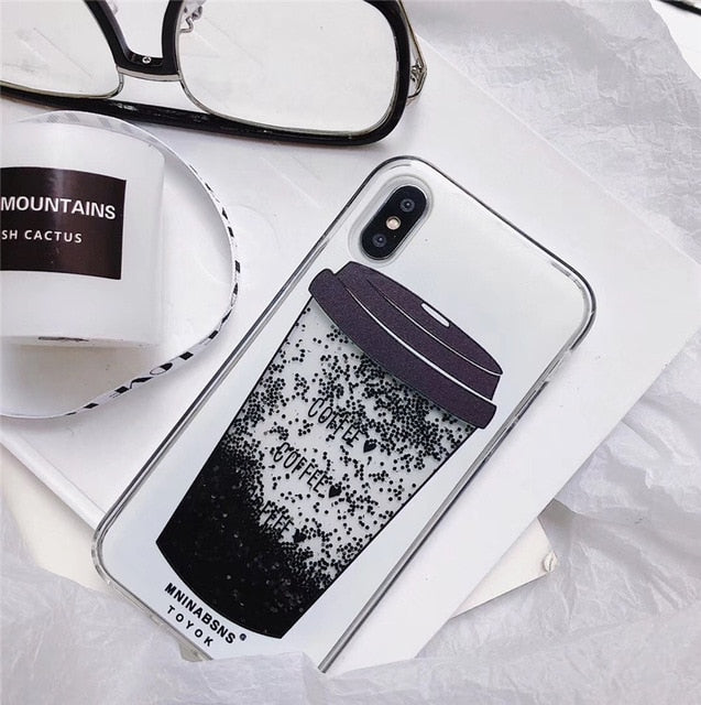 Liquid Case for Oppo R9 R9S R11 R11S Plus F1 F3 A59 F1s A39 A57 F1a A83 A79 A73 F5 A3 R15 Coffee Cup Bear Whale Silicone Cover