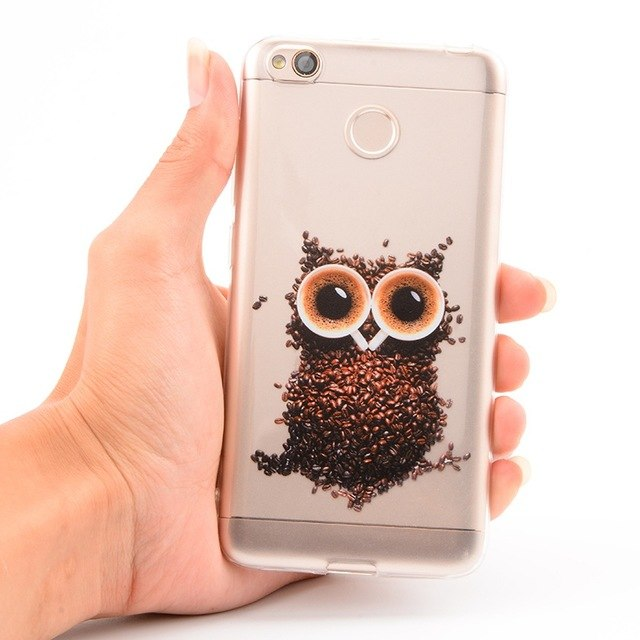 Soft TPU Case For Xiaomi Redmi Note 5 6 Pro 4 4X 5 Plus Cartoon Animals  Plants Painted Cover For Xiaomi Pocophone F1 Shell