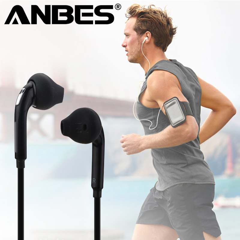 ANBES Sport Headphones with Mic 3.5mm In-Ear Wired Earphone Earbuds Stereo Headphones Universal for Xiaomi iPhone PC