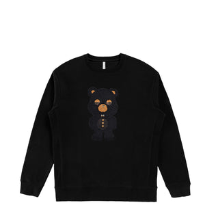 Black Sheep Bear  | Men's Organic Cotton Sweatshirt with Crystals from Swarovski®