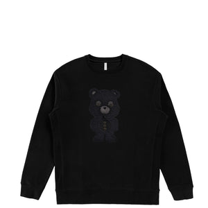Ultra Black Sheep Bear  | Men's Organic Cotton Sweatshirt with Crystals from Swarovski®