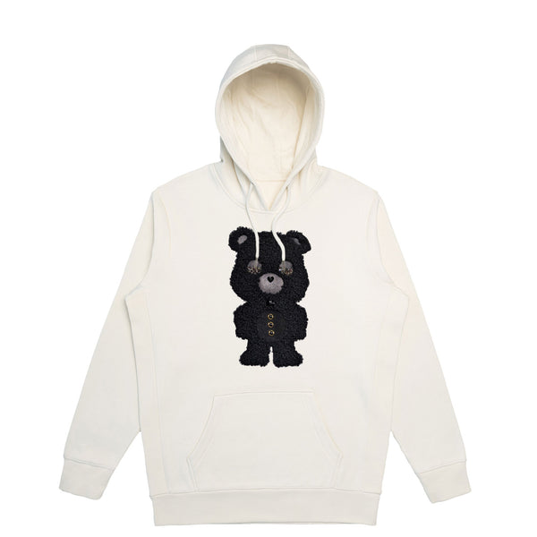 Ultra Black Sheep Bear  | Men's Organic Cotton Hoodie with Crystals from Swarovski®