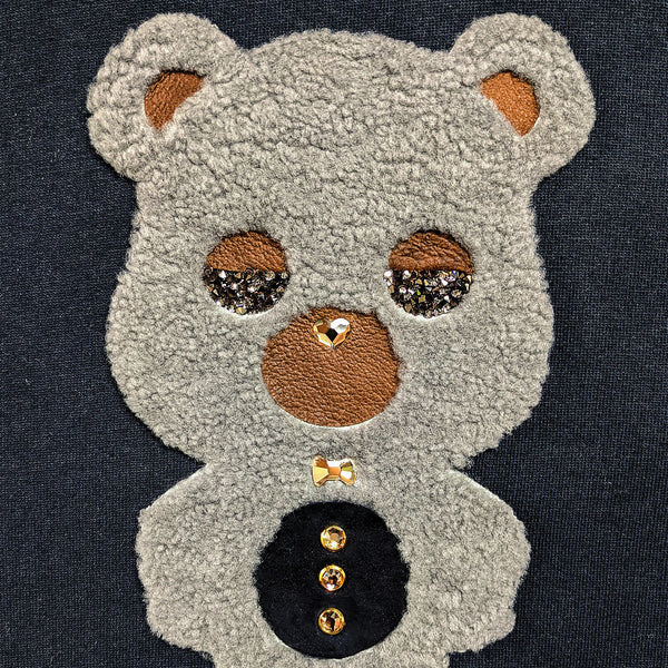 Grey Area Black Sheep Bear | Men's Organic Cotton Hoodie with Crystals from Swarovski®