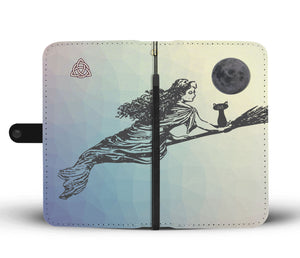 Pretty Witch RFID Phone Wallet Case