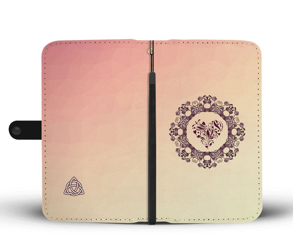 Rose Wreath Wallet Case