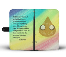 Load image into Gallery viewer, just a little faith phone wallet case