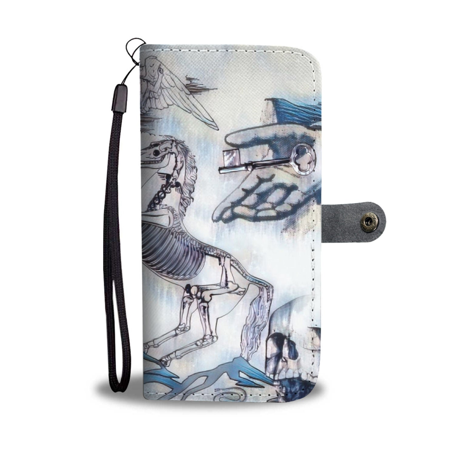 "Graphic Art ""The End is Neigh"" Wallet Phone Case"