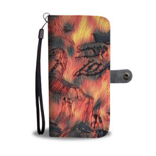 Load image into Gallery viewer, Fiery Apocolypse Angel of Def Skeleton RFID Phone Wallet Case