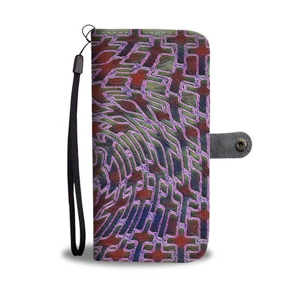 Custom Jewel Toned Wallet Case with cross pattern - HemPress Design