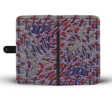 Load image into Gallery viewer, Custom Jewel Toned Wallet Case with cross pattern