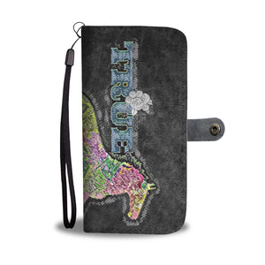 True Love Rainbow floral horse phone wallet case - slate grey - HemPress Design
