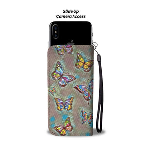 Inspirational Quote Caterpillar Butterfly Butterflies Wallet Case - Pink Pastel
