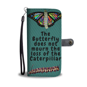 Custom Butterfly Phone Wallet Case
