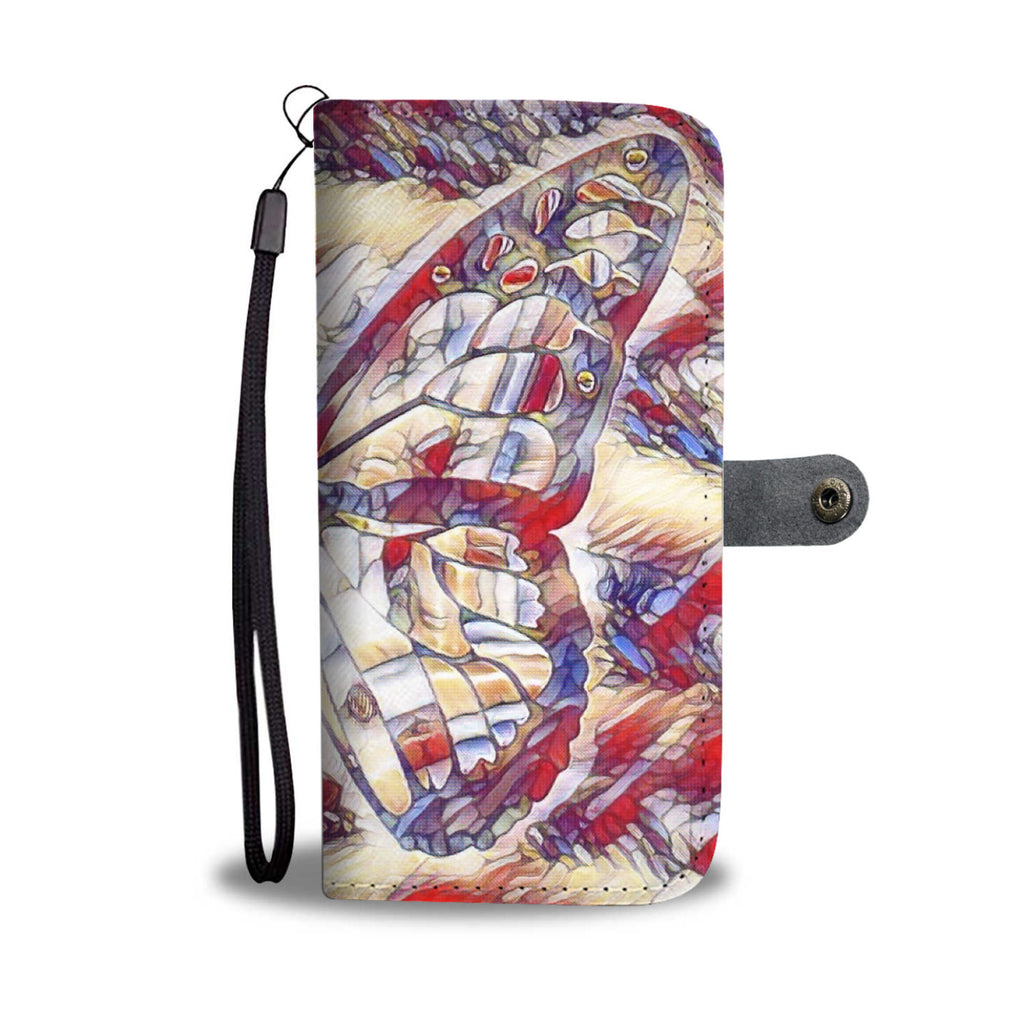 "Phone Wallet Case for iPhone Android Custom Made ""American Butterfly"""