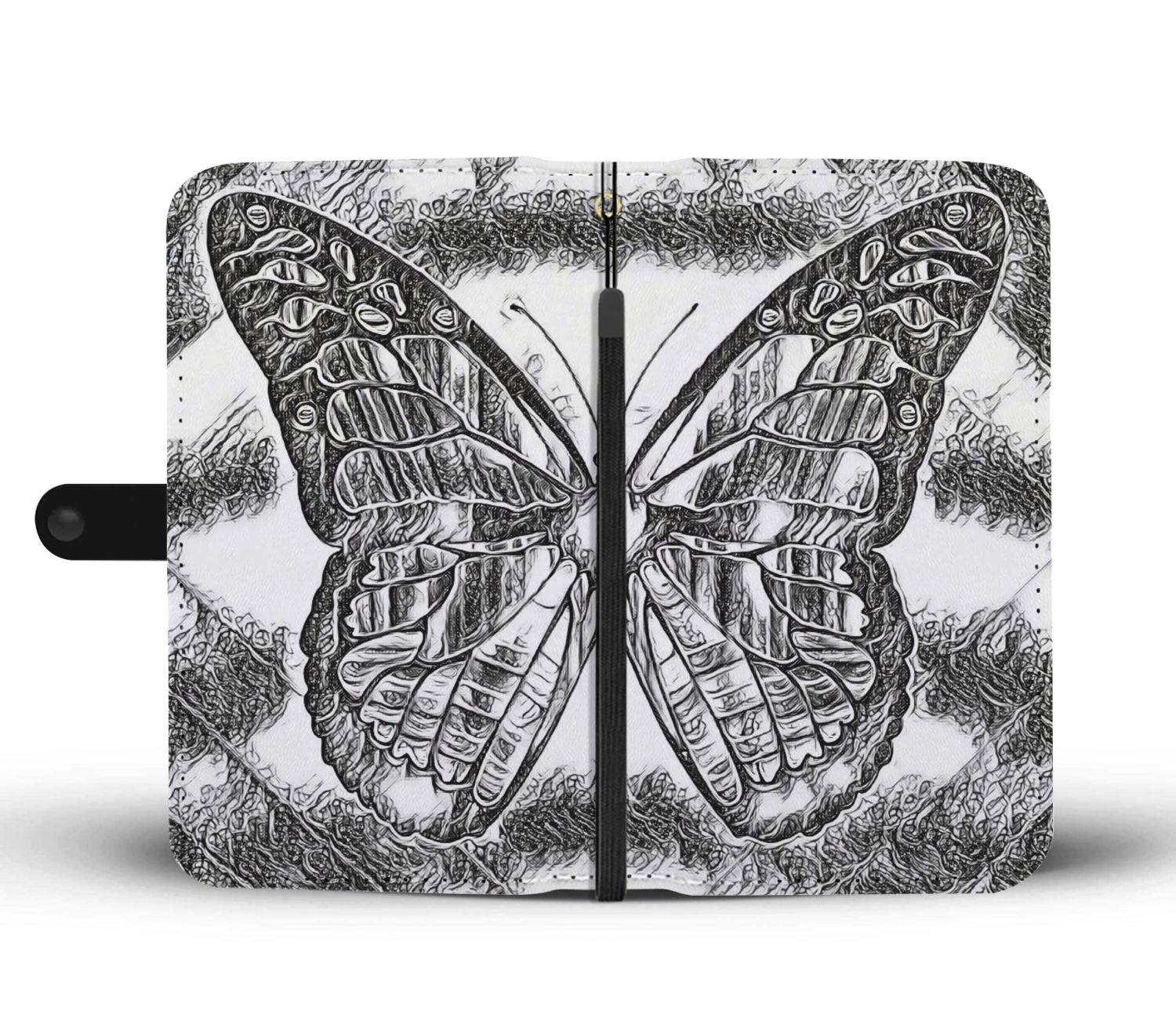 Butterfly Wallet Case for smart phone