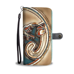 Yin Yang cats - Leather Look Phone wallet case