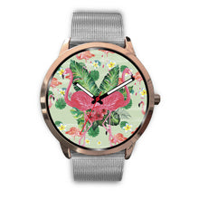 Load image into Gallery viewer, Rose Gold Pink Flamingo Watch