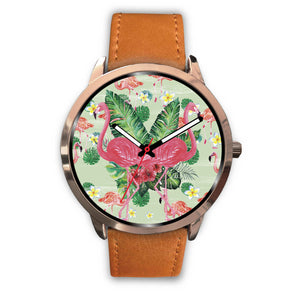 Rose Gold Pink Flamingo Watch