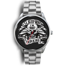 Load image into Gallery viewer, Silver Skull themed Trucker Watch