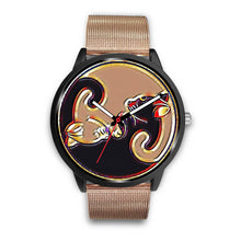 Load image into Gallery viewer, Yin-Yang Kitty Cat Watch Black