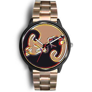 Yin-Yang Kitty Cat Watch Black