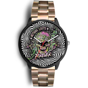 Trippy skull watch