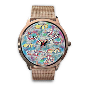 Rose Gold Race Car Watch