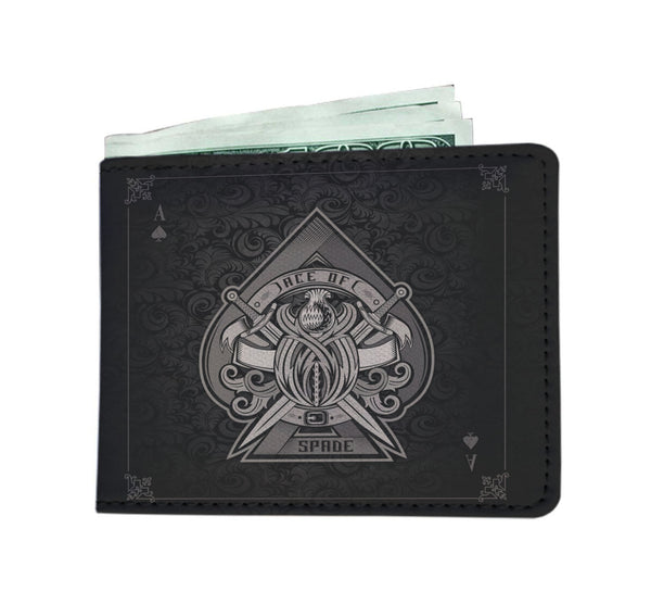 Black Ace of Spades Billfold Wallet