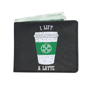 Custom Printed Wallet - Lift a Latte