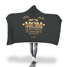 Load image into Gallery viewer, My Beloved Mom My Rock Gift for Mom  Hooded Black Blanket